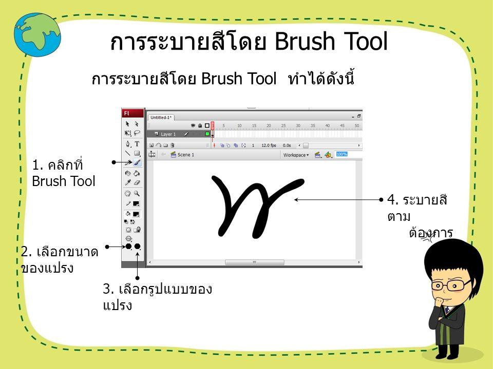 การระบายสีโดย Brush Tool