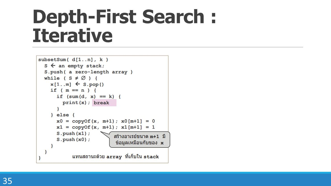 Depth-First Search : Iterative