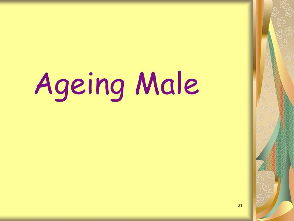 Ageing Male