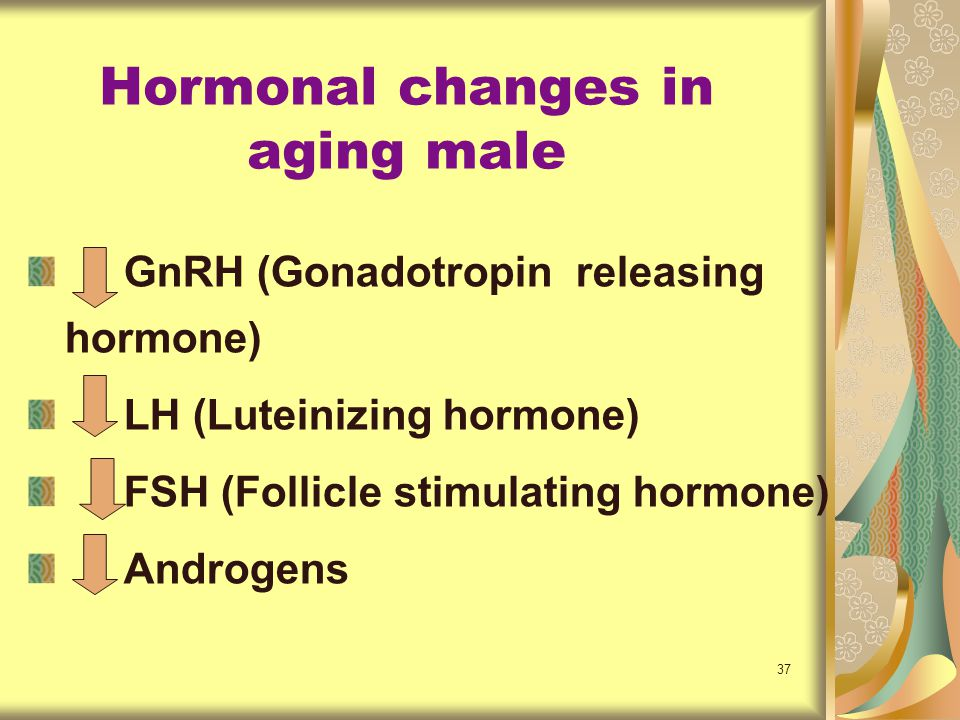 Hormonal changes in aging male