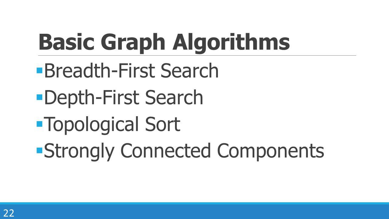 Basic Graph Algorithms