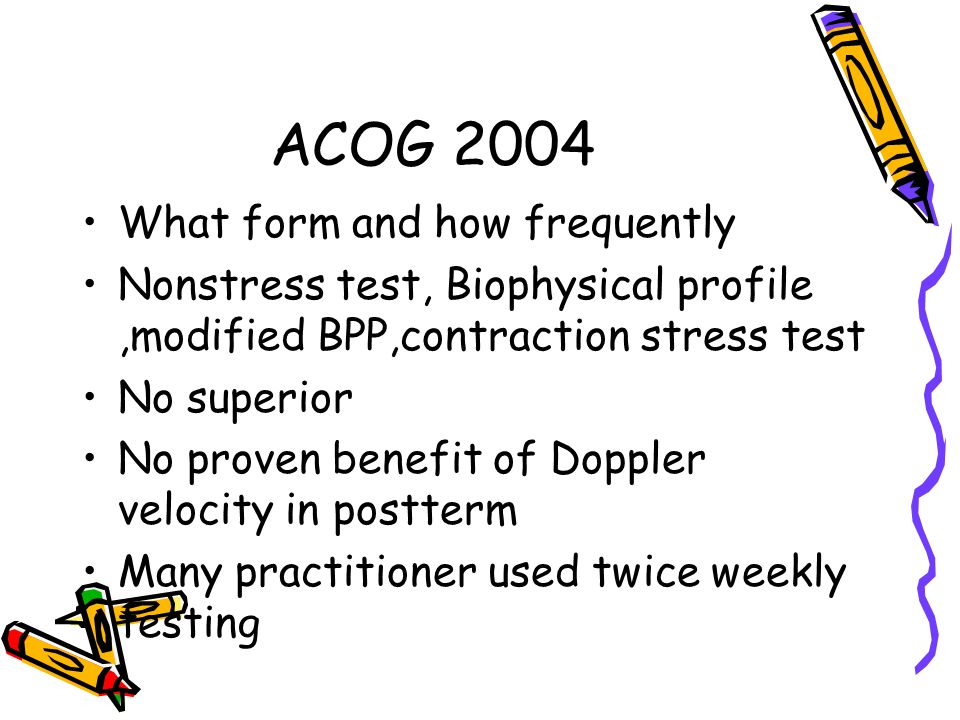 ACOG 2004 What form and how frequently