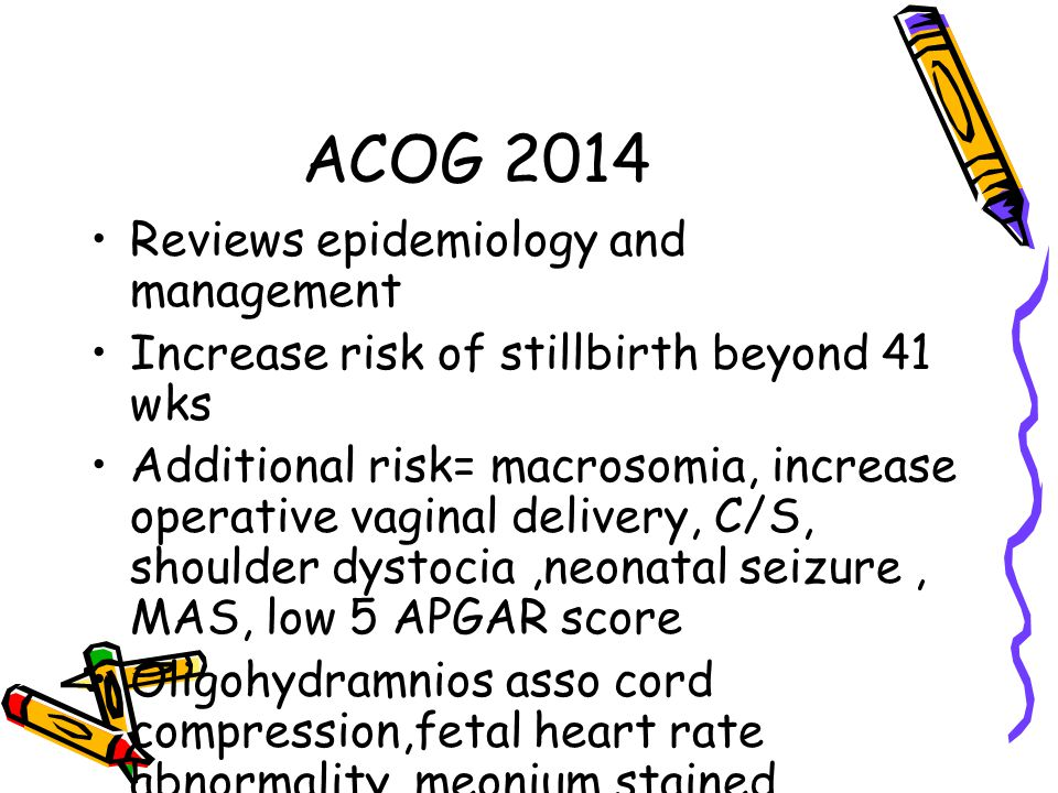 ACOG 2014 Reviews epidemiology and management