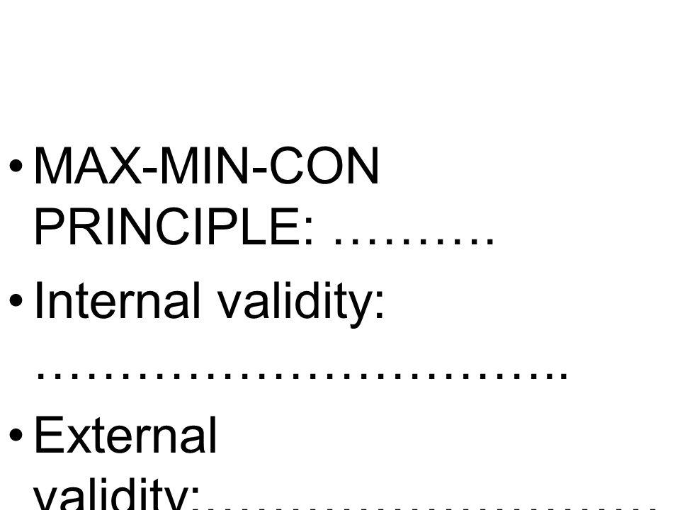 MAX-MIN-CON PRINCIPLE: ……….