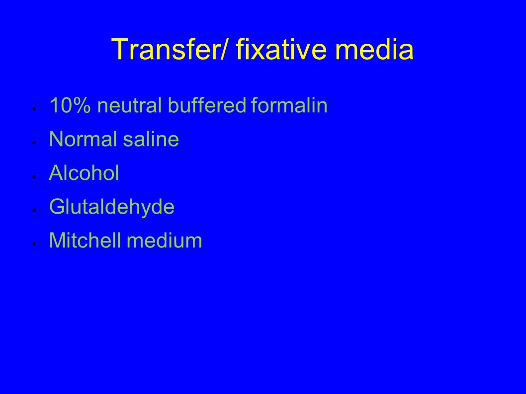 Transfer/ fixative media