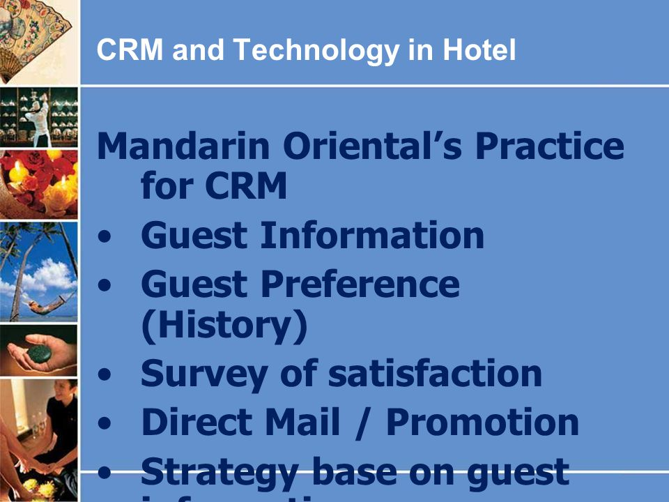 Mandarin Oriental's Practice for CRM Guest Information