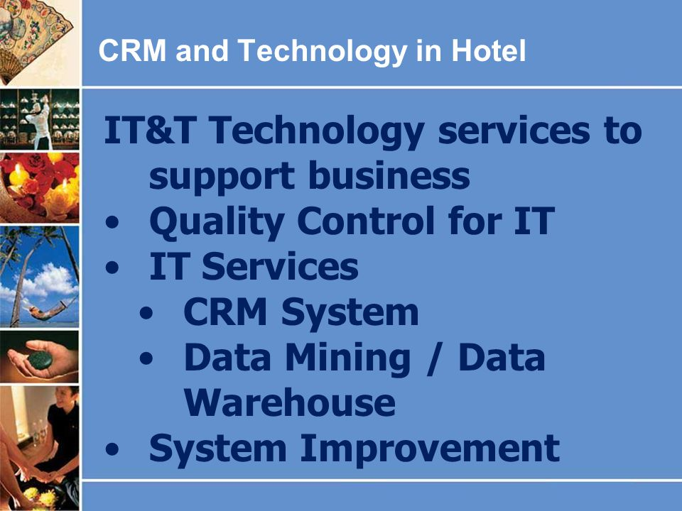 IT&T Technology services to support business Quality Control for IT