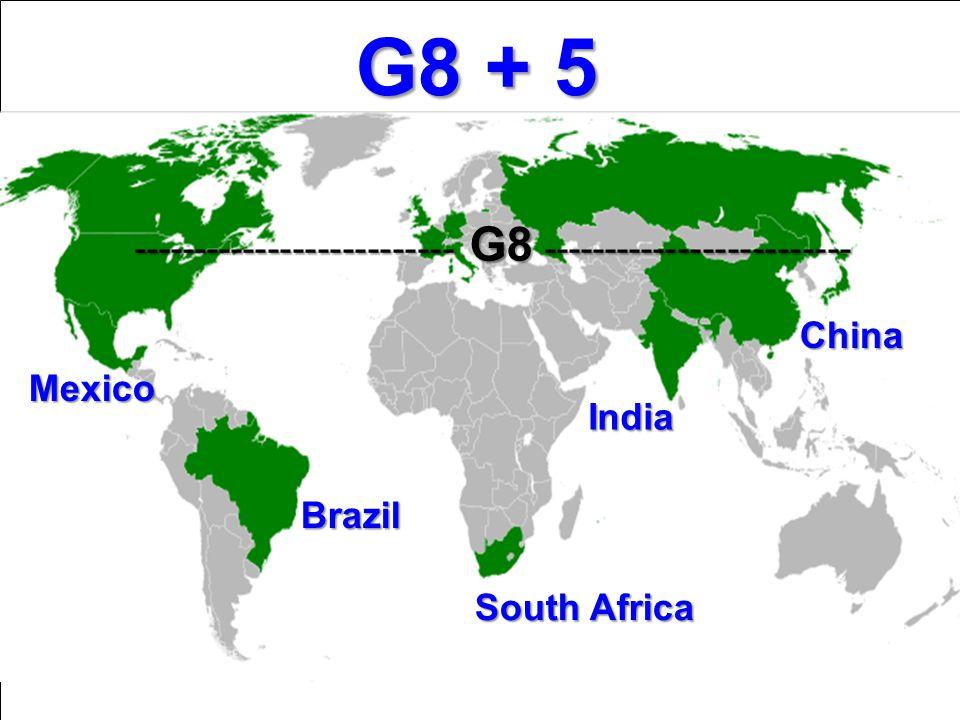 G8 + 5 -------------------------- G8 ------------------------- China