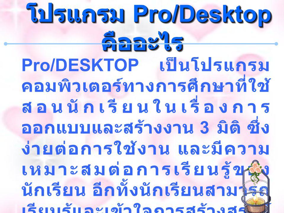 โปรแกรม Pro/Desktop คืออะไร
