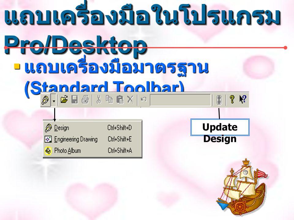 แถบเครื่องมือในโปรแกรม Pro/Desktop