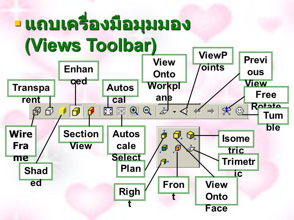 แถบเครื่องมือมุมมอง (Views Toolbar)
