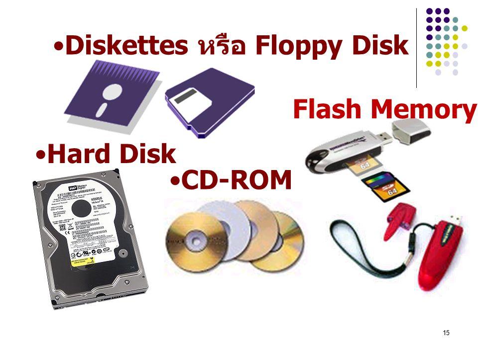 Diskettes หรือ Floppy Disk