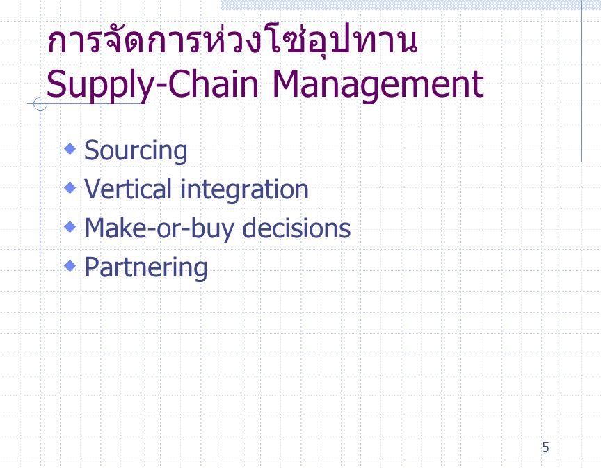 การจัดการห่วงโซ่อุปทาน Supply-Chain Management