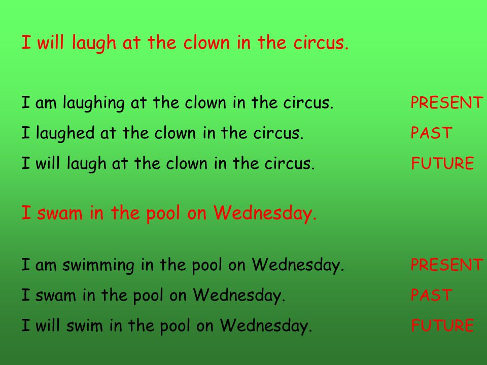 I will laugh at the clown in the circus.
