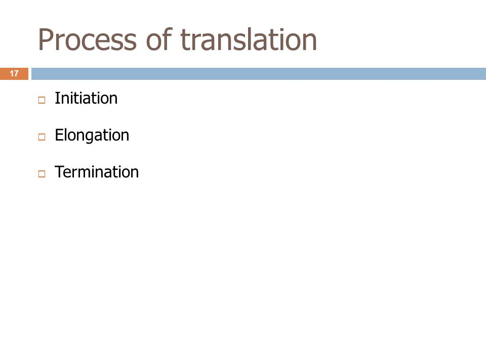 Process of translation