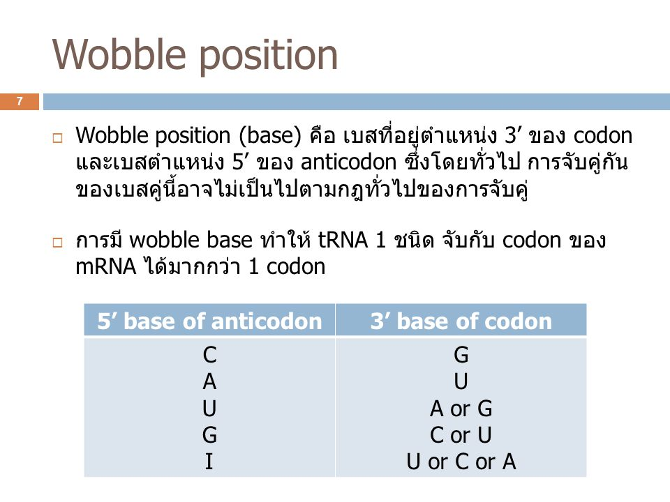 Wobble position