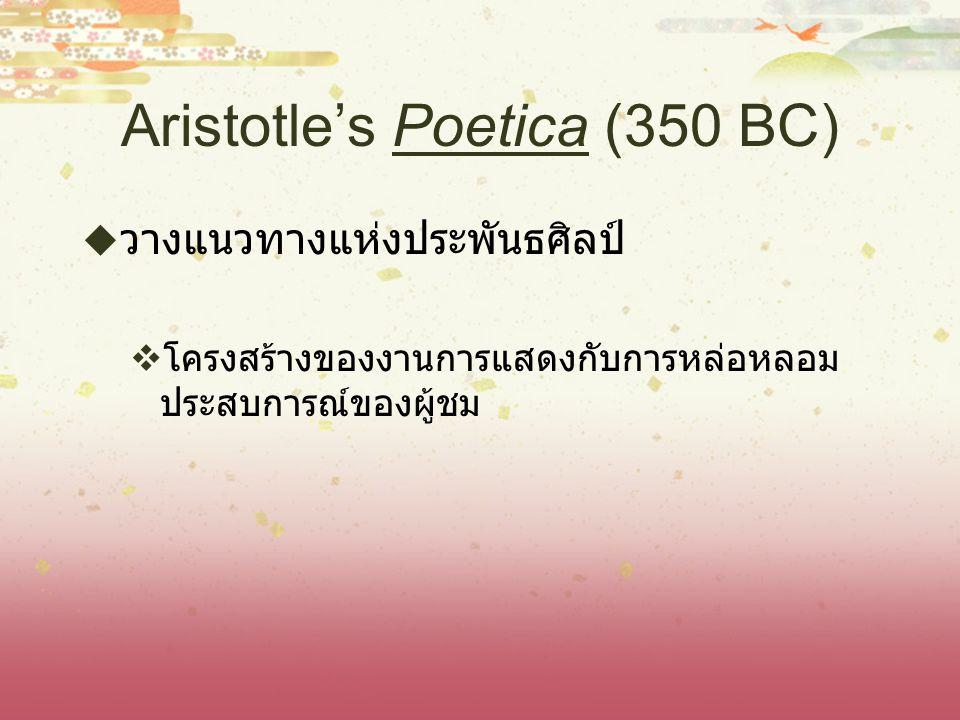 Aristotle's Poetica (350 BC)