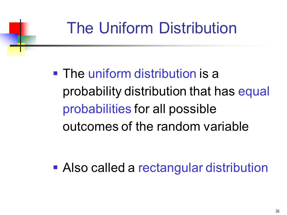 The Uniform Distribution