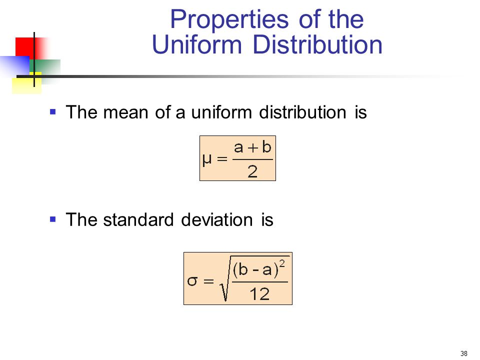 Properties of the Uniform Distribution