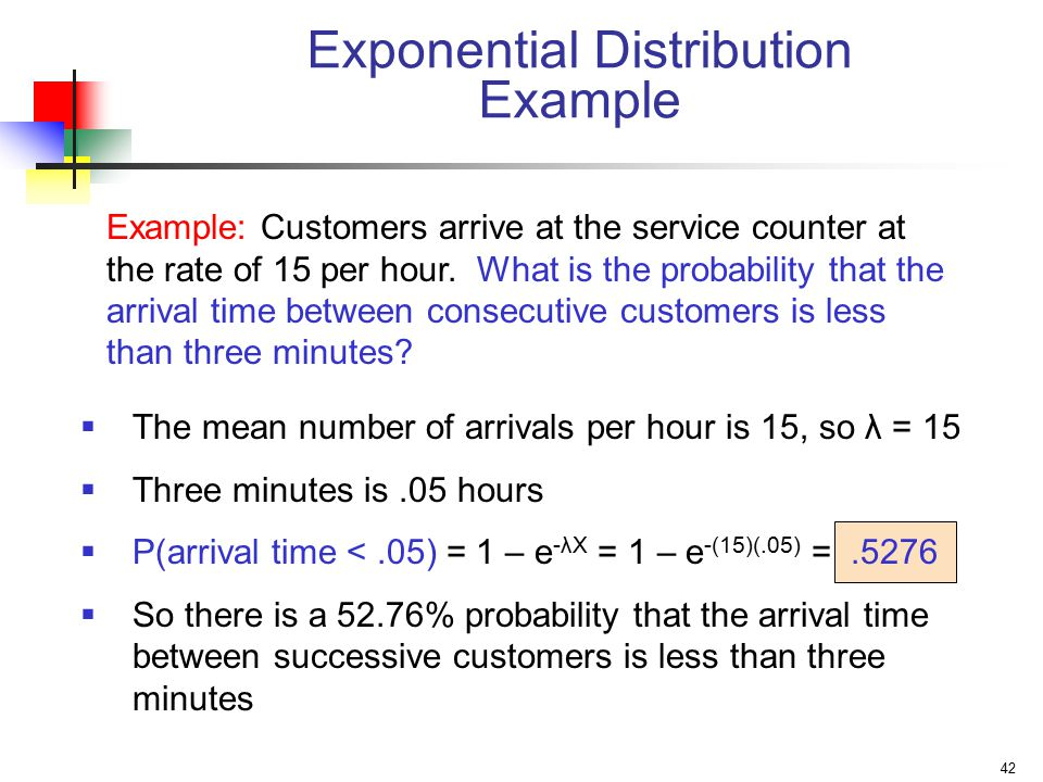 Exponential Distribution Example