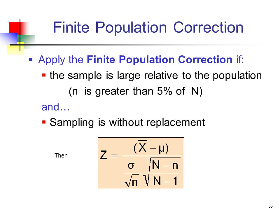 Finite Population Correction