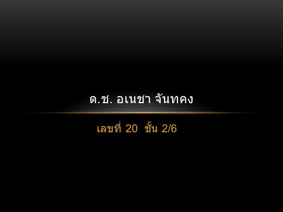 ด.ช. อเนชา จันทคง เลขที่ 20 ชั้น 2/6