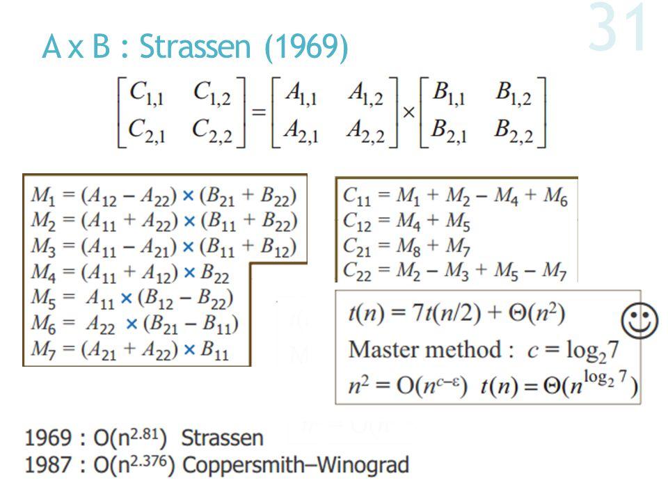A x B : Strassen (1969)