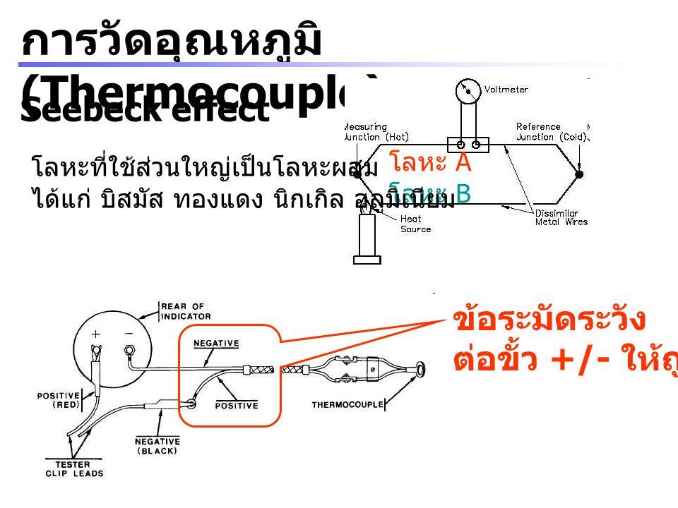 การวัดอุณหภูมิ (Thermocouple)