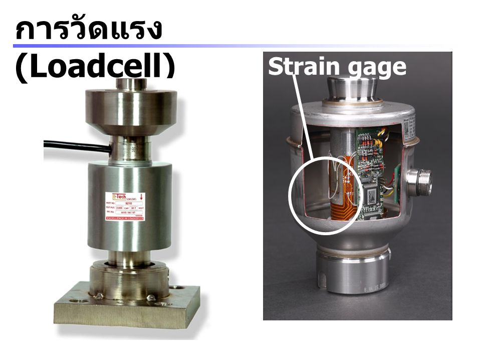 การวัดแรง (Loadcell) Strain gage