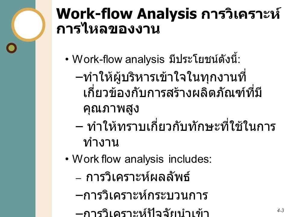 Work-flow Analysis การวิเคราะห์การไหลของงาน