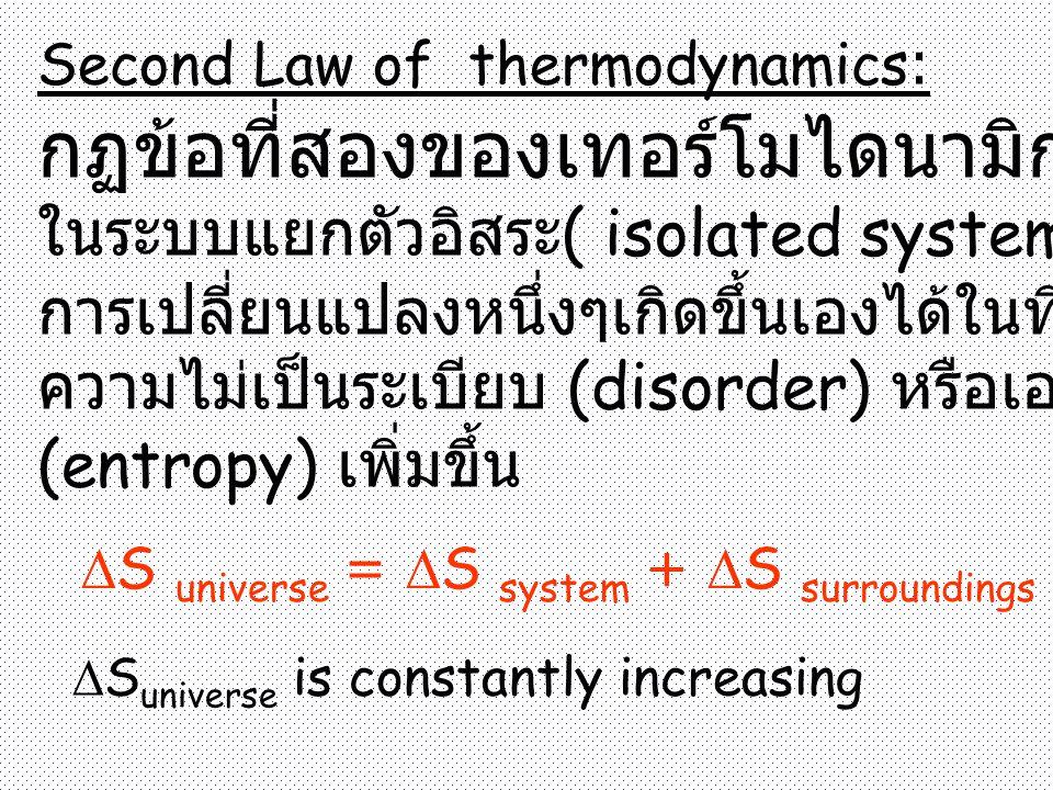 กฏข้อที่สองของเทอร์โมไดนามิก