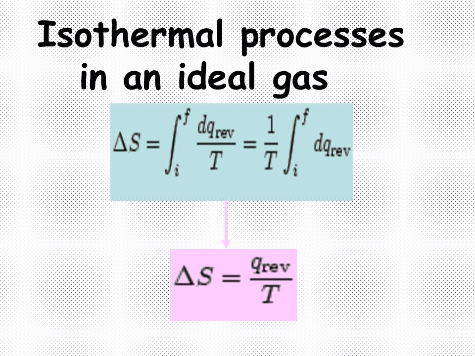 Isothermal processes in an ideal gas