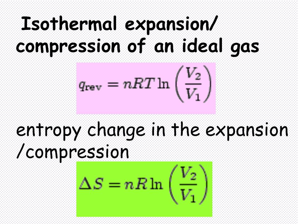 Isothermal expansion/