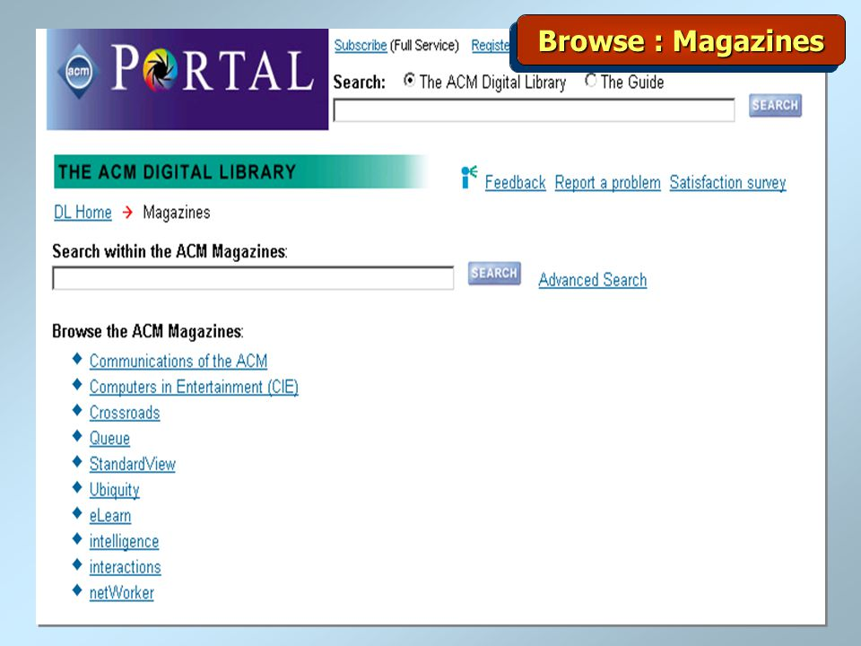 Browse : Magazines