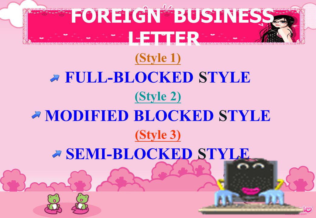 FOREIGN BUSINESS LETTER