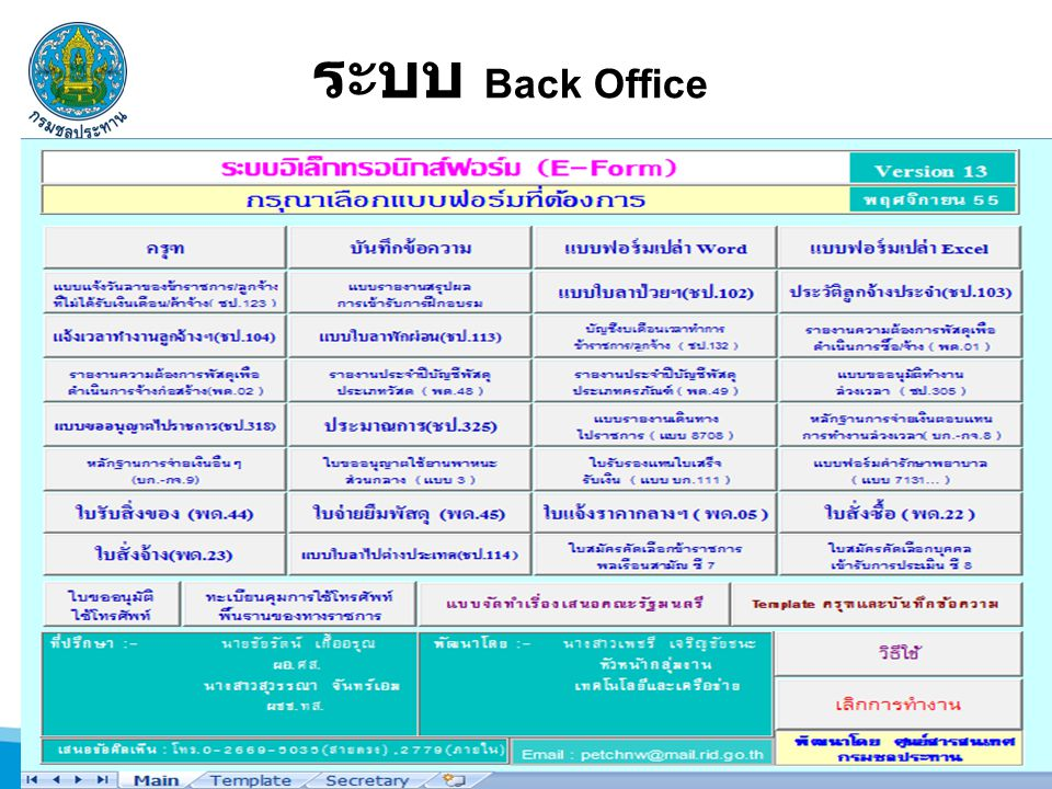 ระบบ Back Office
