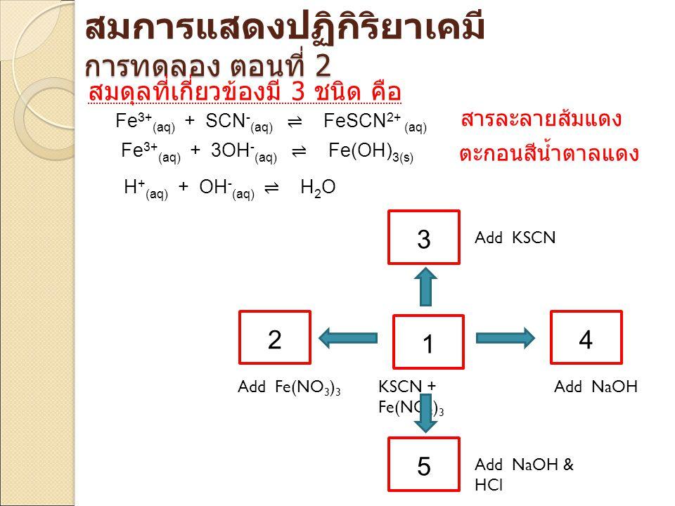 สมการแสดงปฏิกิริยาเคมี การทดลอง ตอนที่ 2