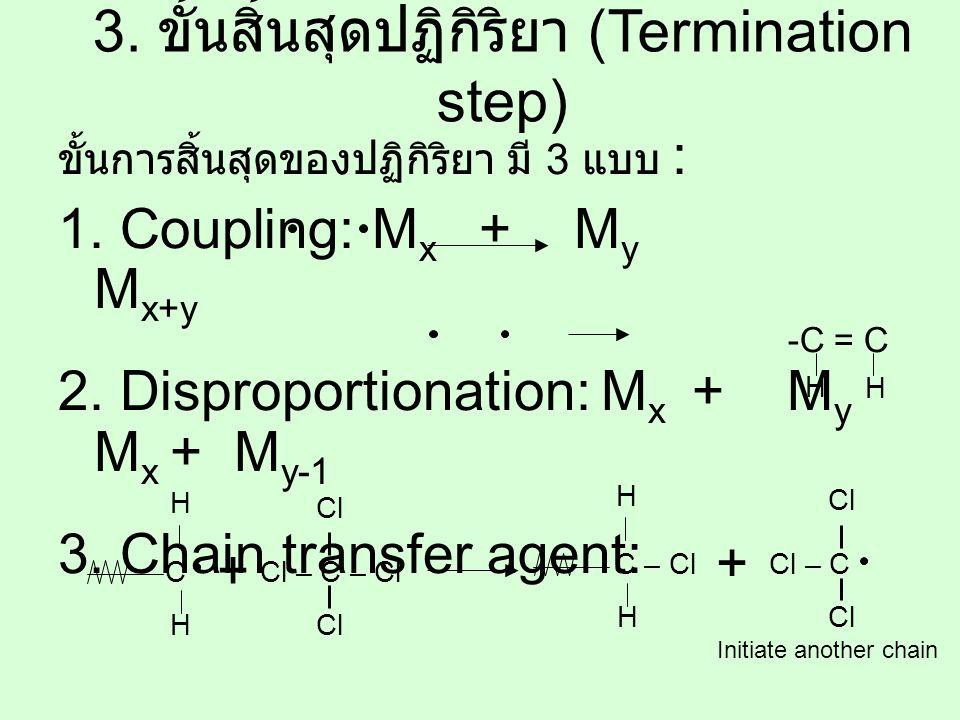 3. ขั้นสิ้นสุดปฏิกิริยา (Termination step)