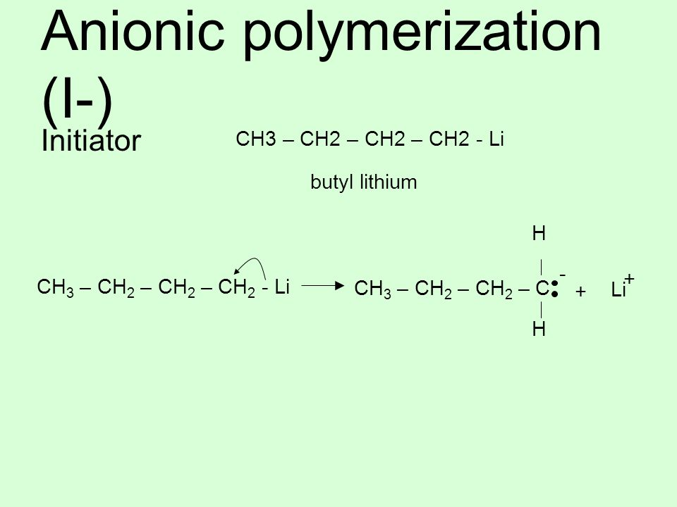 Anionic polymerization (I-)