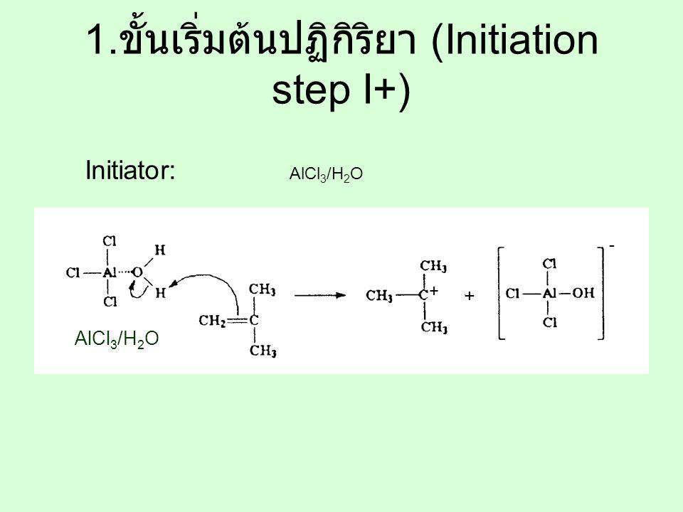 1.ขั้นเริ่มต้นปฏิกิริยา (Initiation step I+)