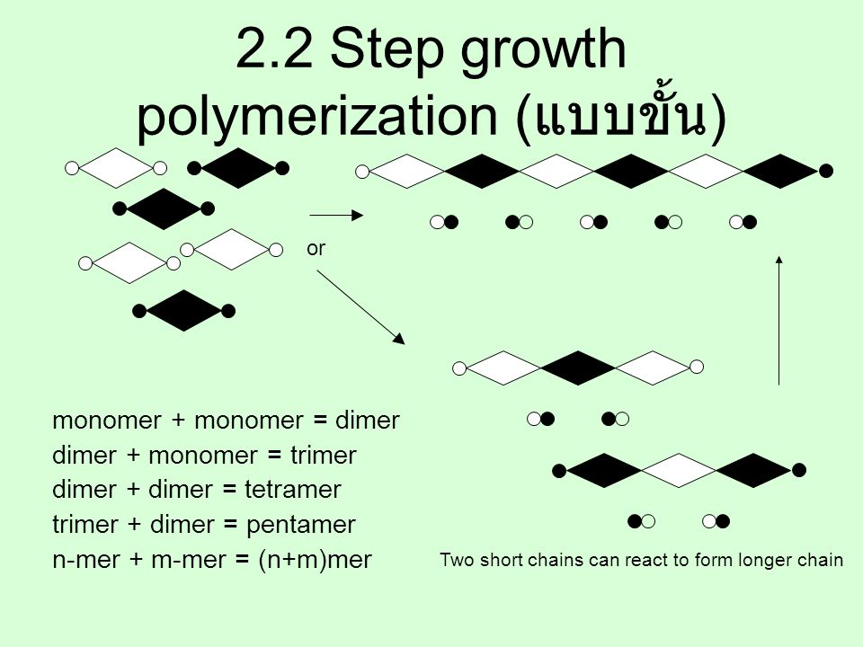 2.2 Step growth polymerization (แบบขั้น)