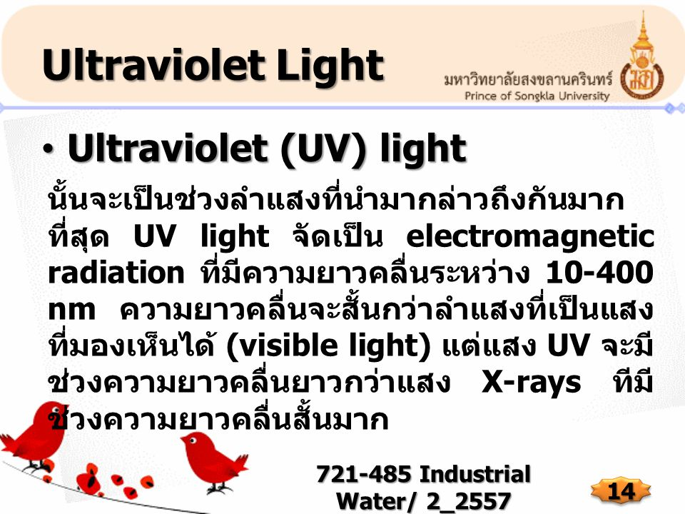 Ultraviolet Light Ultraviolet (UV) light