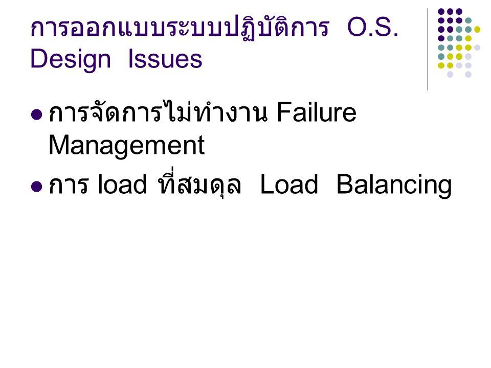 การออกแบบระบบปฏิบัติการ O.S. Design Issues