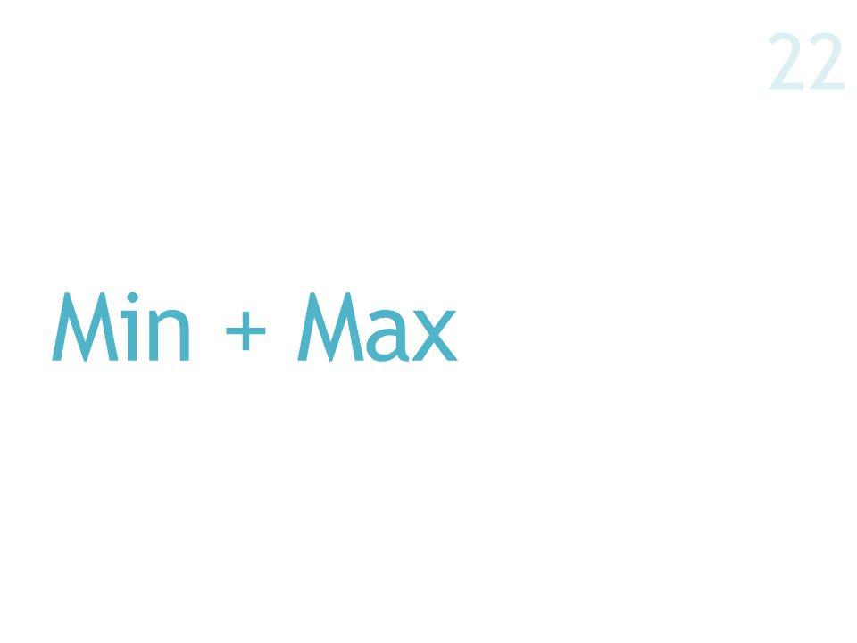Min + Max