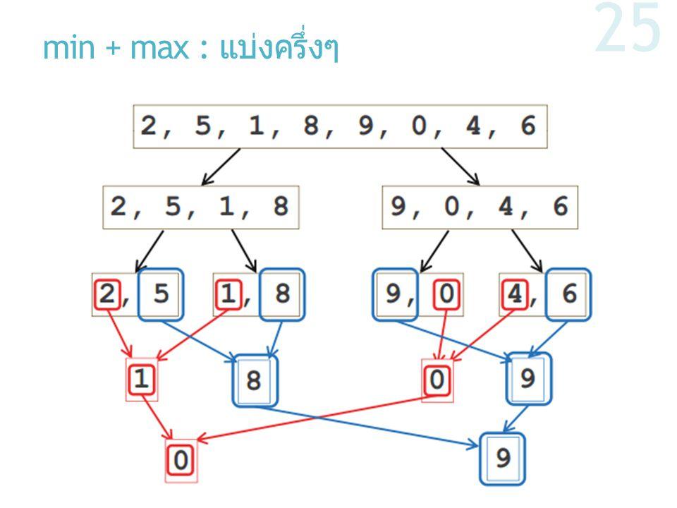 min + max : แบ่งครึ่งๆ