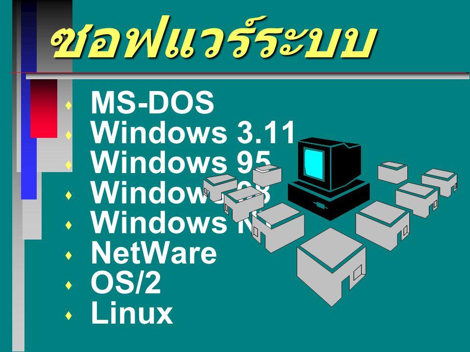 ตัวอย่างของซอฟแวร์ระบบ