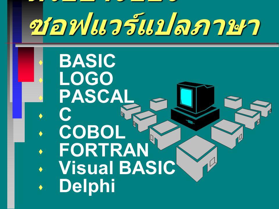 ตัวอย่างของซอฟแวร์แปลภาษา