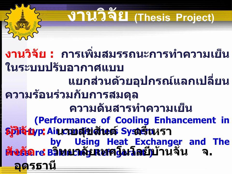 งานวิจัย (Thesis Project)