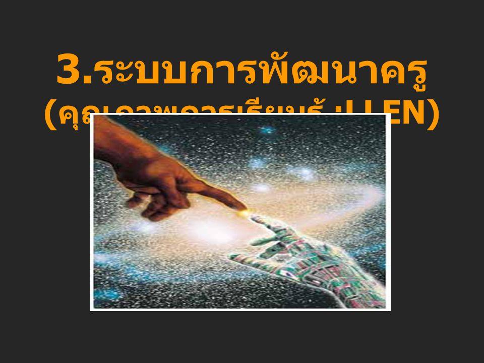 3.ระบบการพัฒนาครู(คุณภาพการเรียนรู้ :LLEN)
