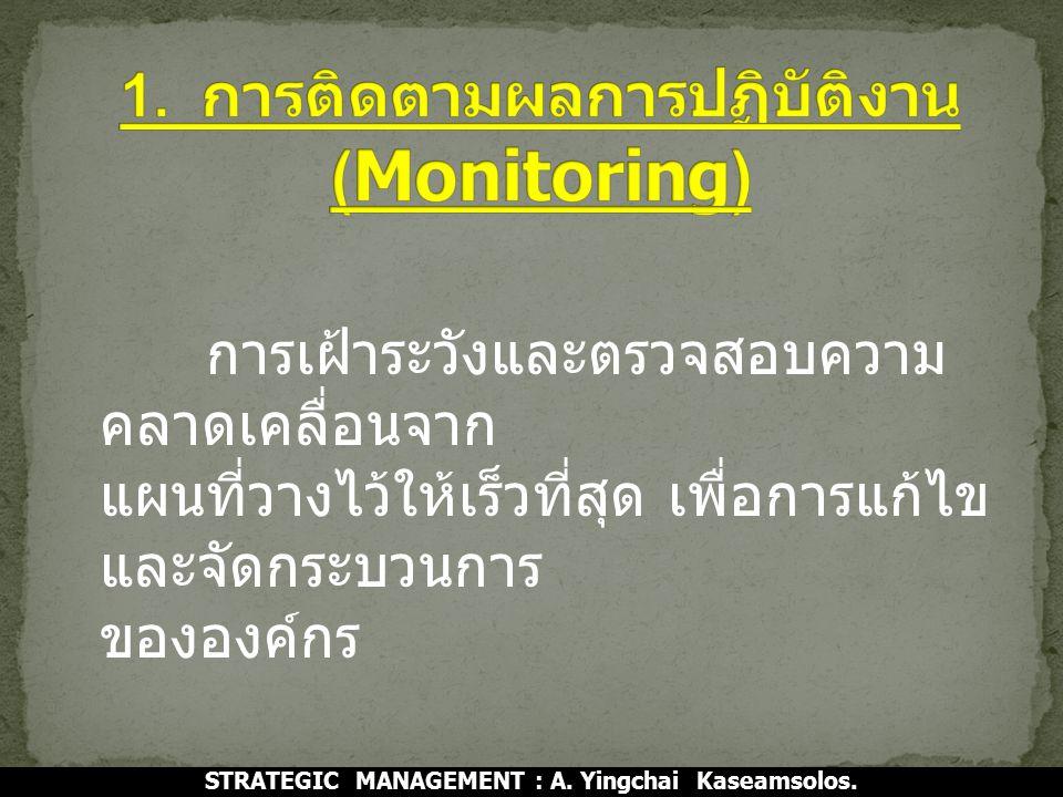 1. การติดตามผลการปฏิบัติงาน (Monitoring)